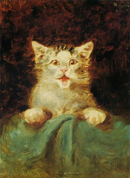 The Cat by  Henri de Toulouse-Lautrec - 1882