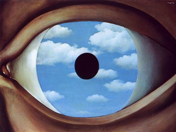 The False Mirror by Rene Magritte
