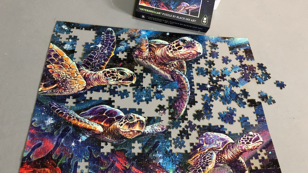 Black Ink Art Intershellar Jigsaw Puzzle Kickstarter