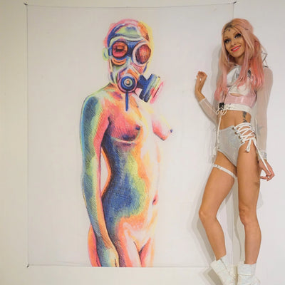 Rainbow Gas Mask