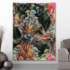 Visionary Artist Black Ink Art + BL Visuals Dwights Den Tapestry by Third Eye Tapestries