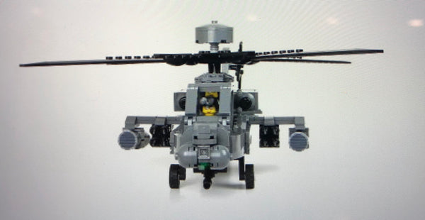 Apache Ah-64 Longbow Attack Helicopter - Battle Brick Customs