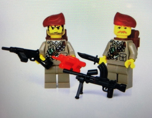 WW2 British Sas Soldiers - Battle Brick Customs