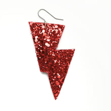 Load image into Gallery viewer, Disco Bolt Lightning Earrings - Glitter Collection
