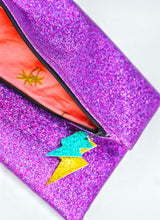 Load image into Gallery viewer, Glitter Disco Envelope Purse