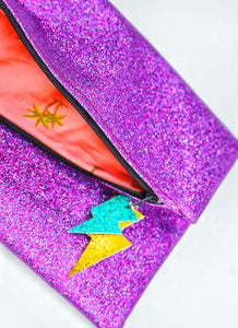 Glitter Disco Envelope Purse