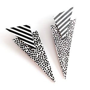 Spots and Stripes - Power Dressing Oversized Statement Earrings