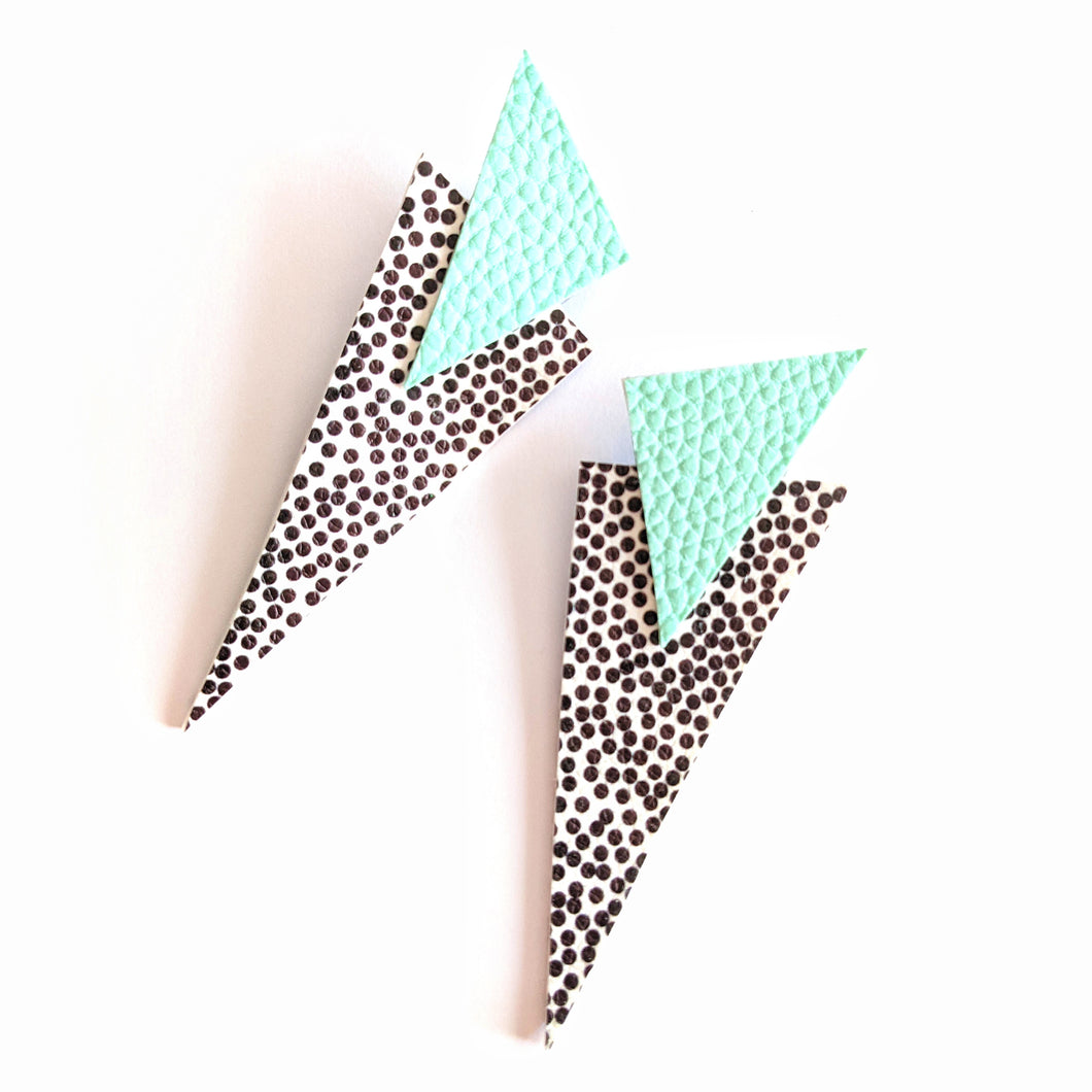 Spotty and Mint - Power Dressing Oversized Statement Earrings
