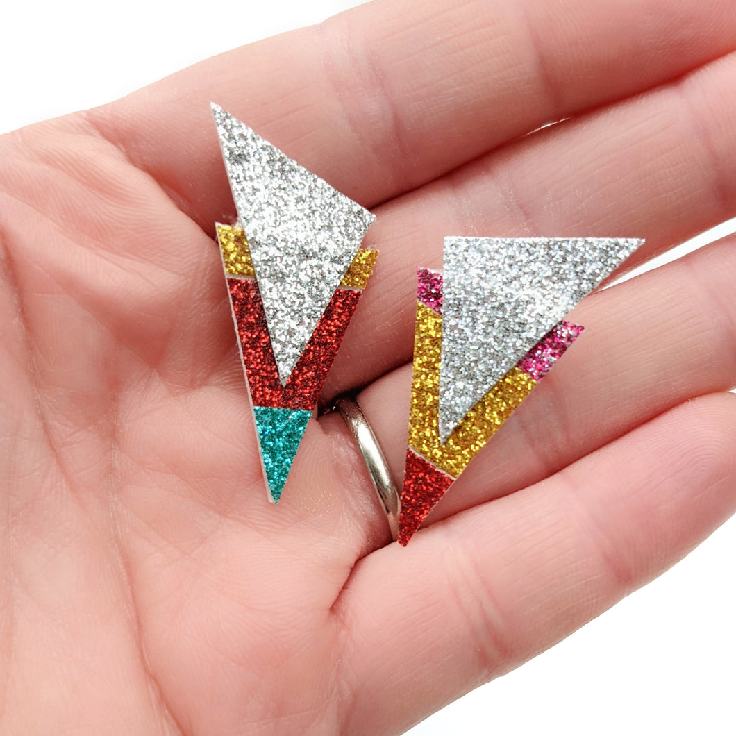 Big Rainbow - Power Dressing Stud Earrings