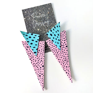 'Truly Outrageous' Collection - Jem Inspired - Power Dressing Oversized Statement Earrings