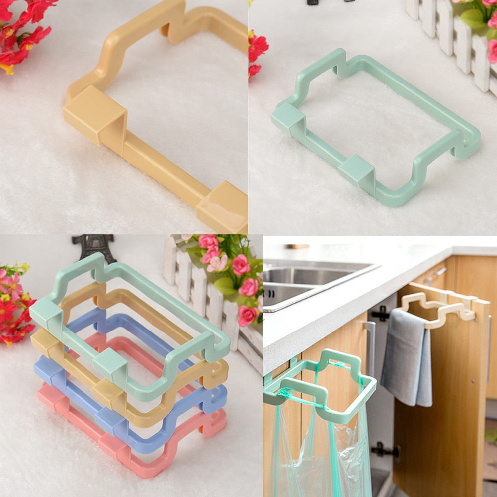 Cabinet Door Garbage Bag Holder - premierekitchenhelpers