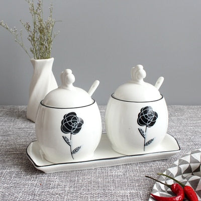 Condiment Pot Jars With Spoon - premierekitchenhelpers