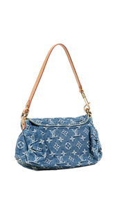 "LOUIS VUITTON ""DENIM PLEATY MINI"" CARTERA DE HOMBRO"