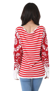 Sweater rojo y blanco (6555717173383)