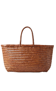 "Tote ""Bamboo Triple Jump large woven leather tote"""