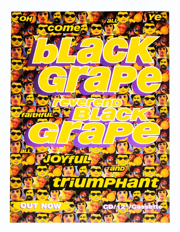 Black Grape poster - Reverand Black Grape single. Original