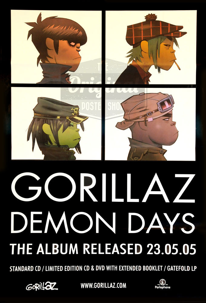 Gorillaz poster - Demon Days - 1st Generation reprint