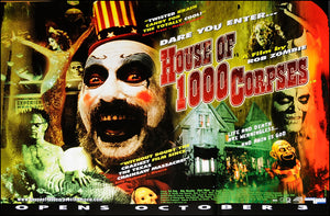 Rob Zombie poster - House of 1,000 Corpses