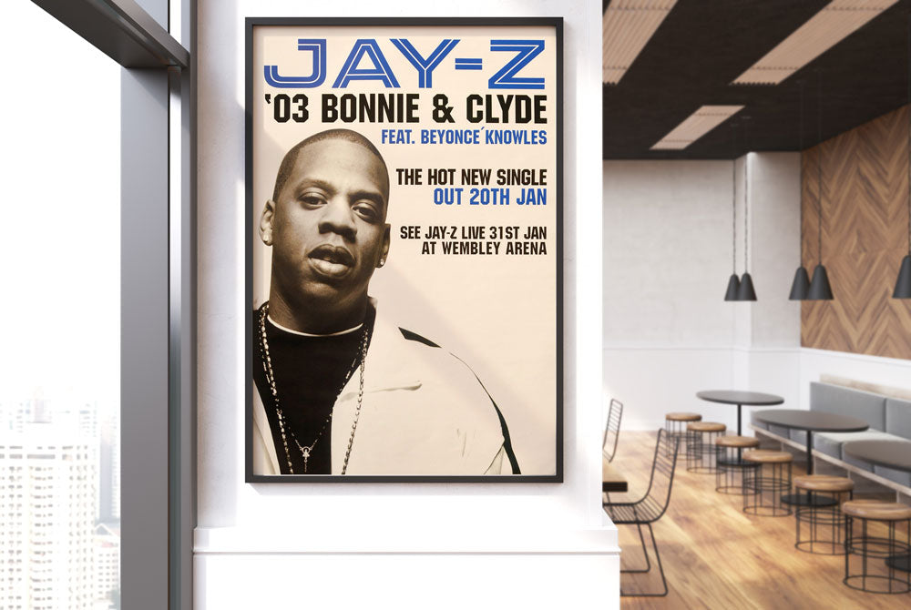 Jay Z poster - Bonnie & Clyde. Original
