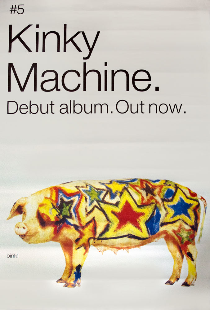 "Kinky Machine poster - Self titled album. Original 60""x40"""