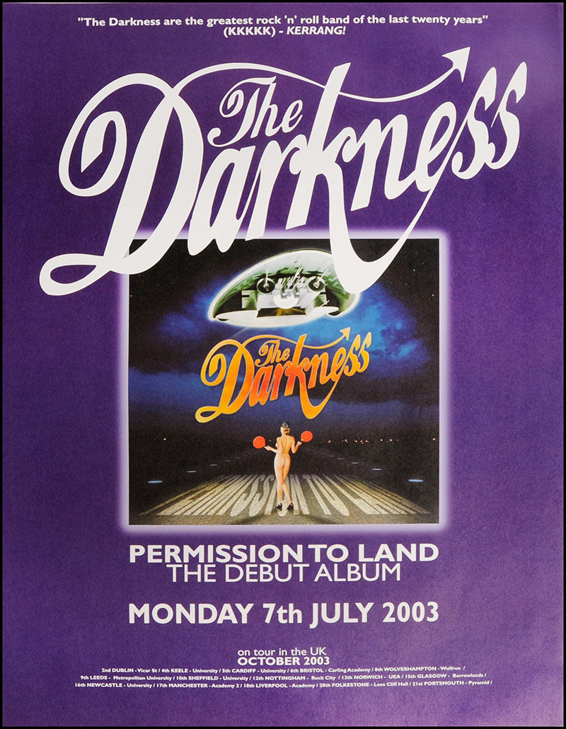 The Darkness poster - Permission to Land