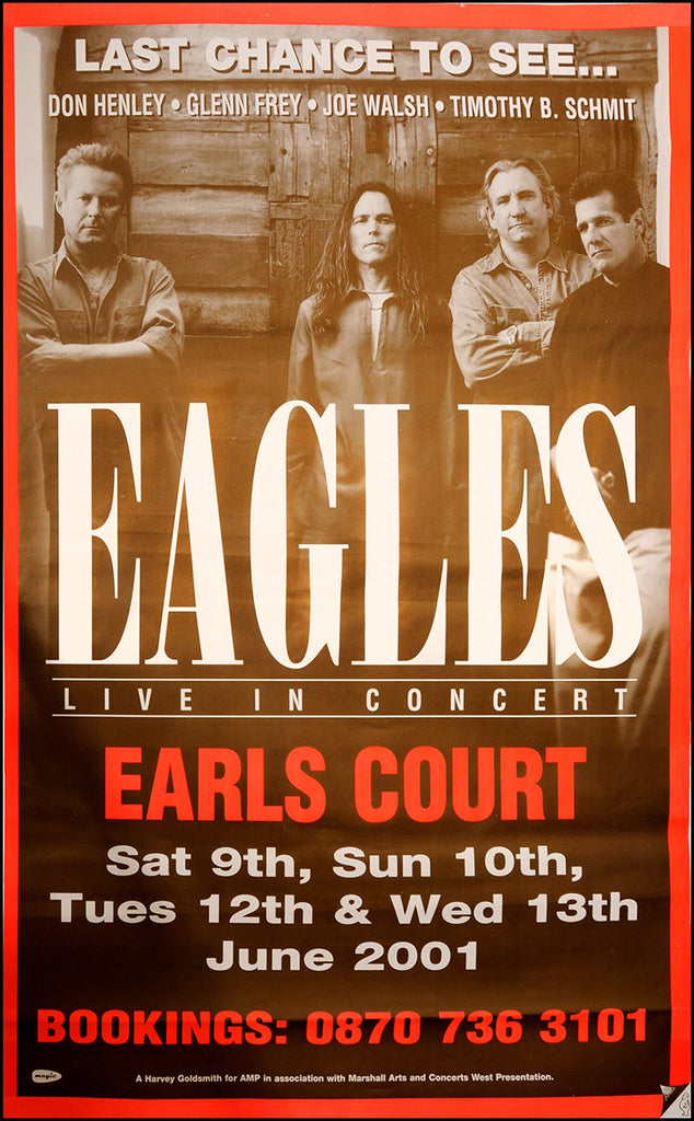 "The Eagles - Original Earls Court poster 60""x40"" size"