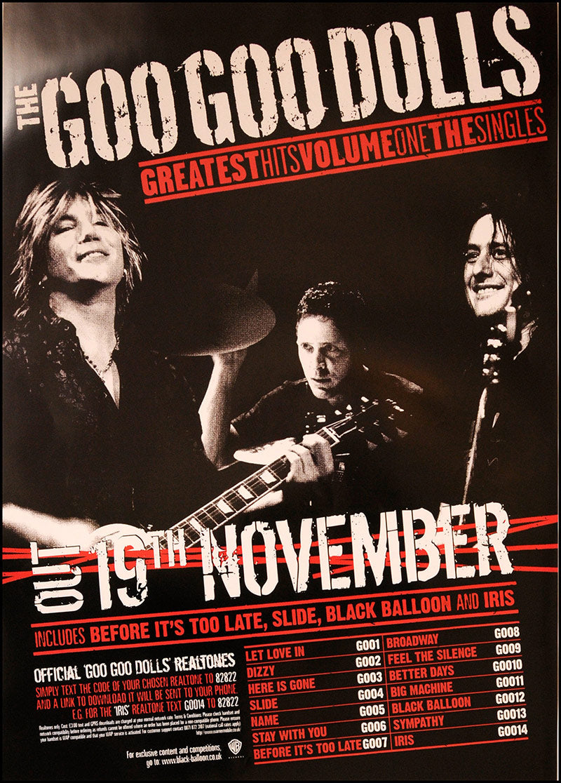 Goo Goo Dolls poster - Greatest Hits