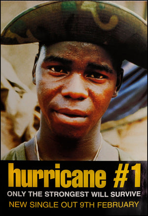 Hurricane #1 poster - Only the strongest will survive. Original