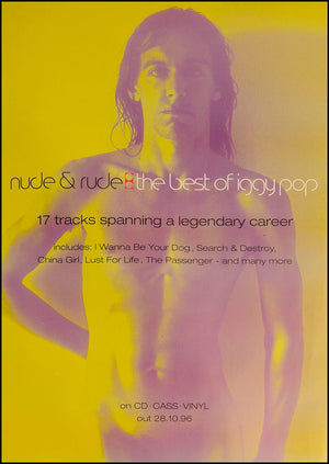 Iggy Pop poster - Nude and Rude. Original