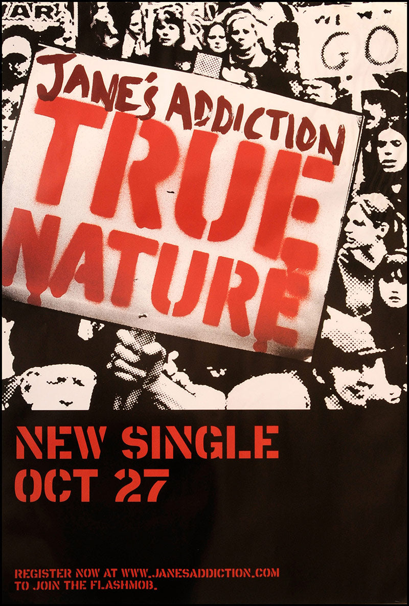 Jane's Addiction poster - True Nature. Original