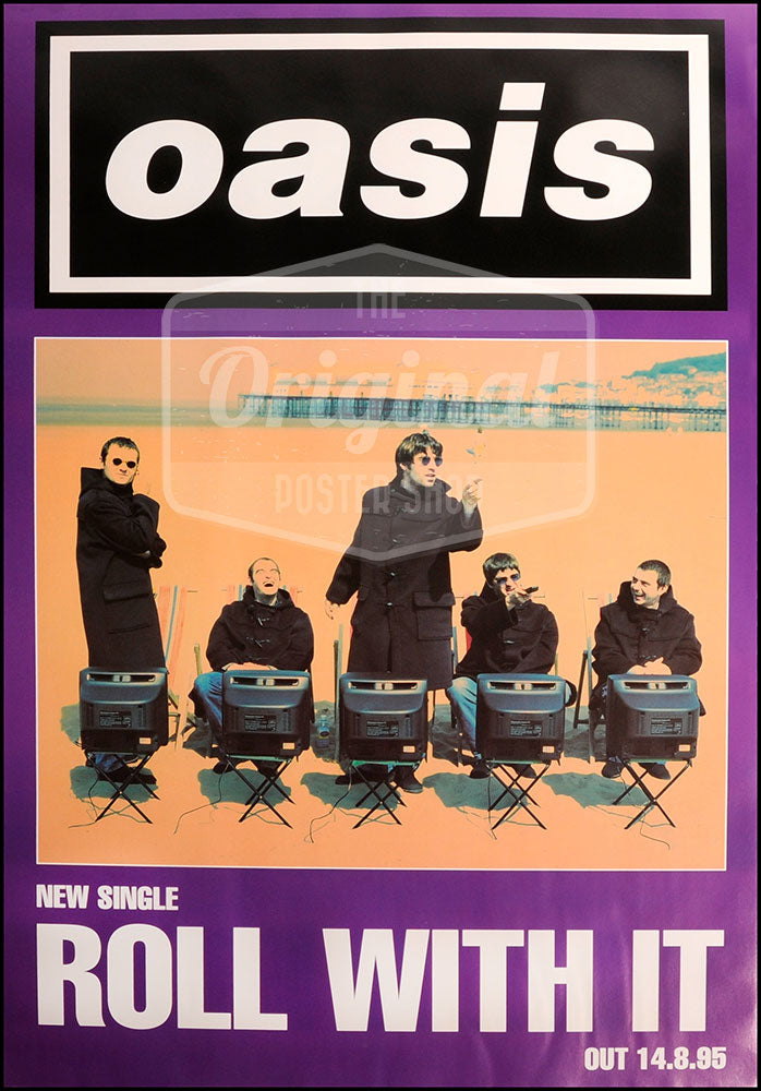 Oasis poster - Roll With It. Rare original