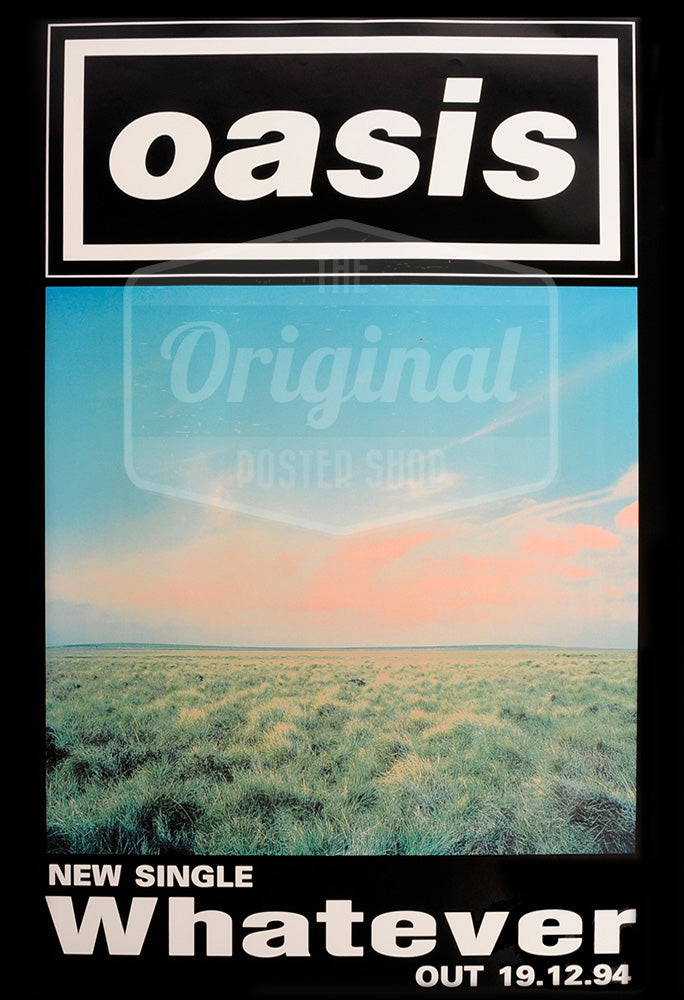 Oasis poster - Whatever. Very Rare Original