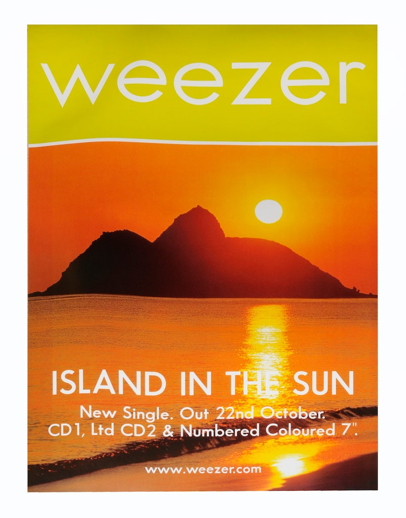 Weezer poster - Island in the sun