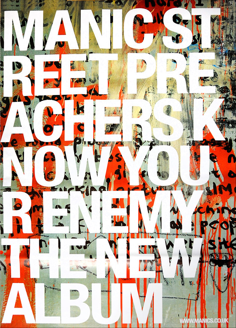 "Manic Street Preachers poster - Know your enemy. Original 60"" x 40"""