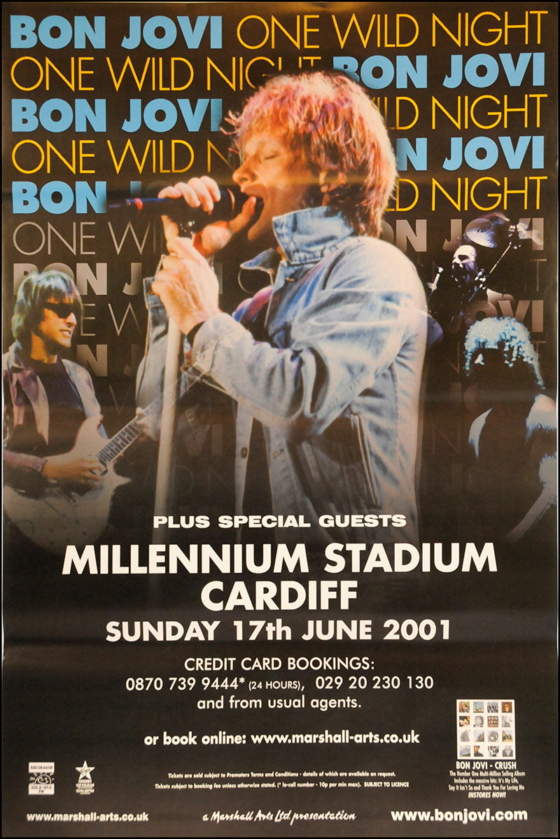 Bon Jovi poster - One Wild Night