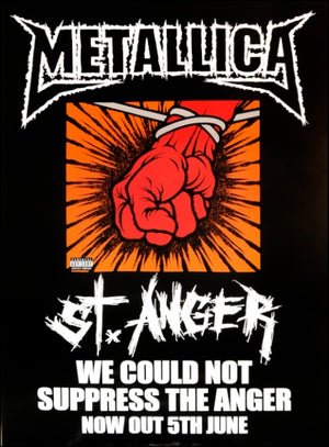 Metallica poster - St. Anger. Original