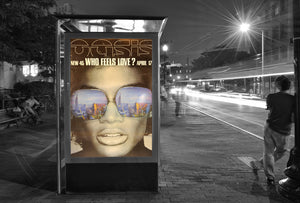 "Oasis poster - Who Feels Love - Original Large 60""x40"""