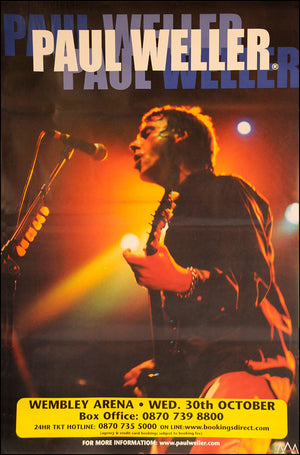 "Paul Weller original poster - Wembley Arena Concert - Original Large 60"" x 40"""