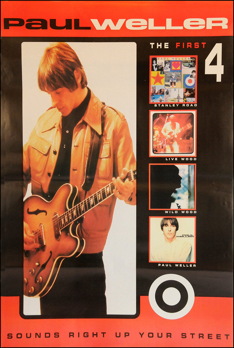 "Paul Weller poster - The First 4 Albums - Original Large 60""x40"""