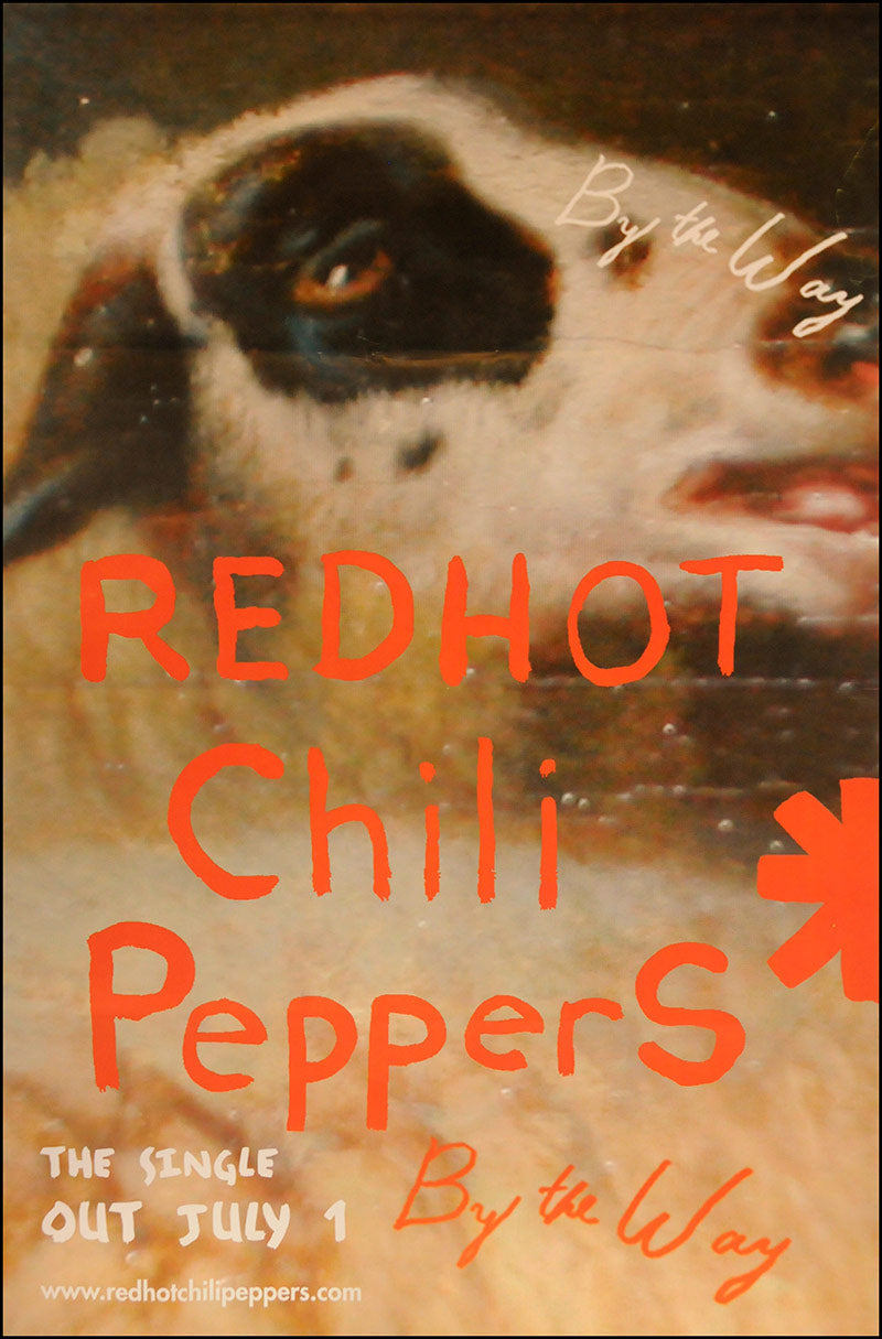 "Red Hot Chili Peppers poster - By The Way (single). Original 60""x40"""