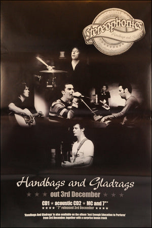 "Stereophonics poster - Handbags and Gladrags. Original 60""x40"""