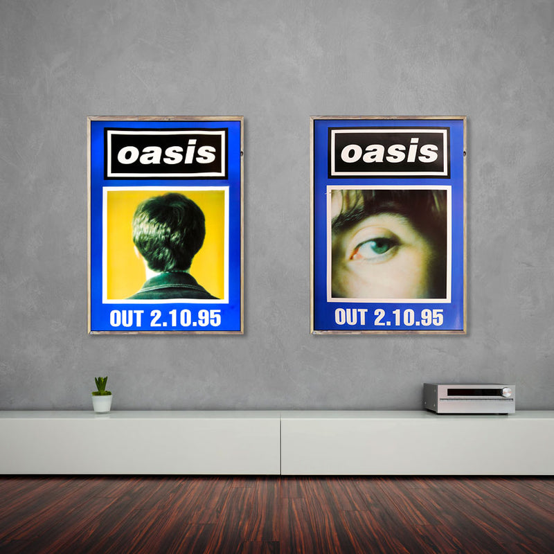 Oasis poster - (What's the Story) Morning Glory? Blue duo set - Very Rare Original
