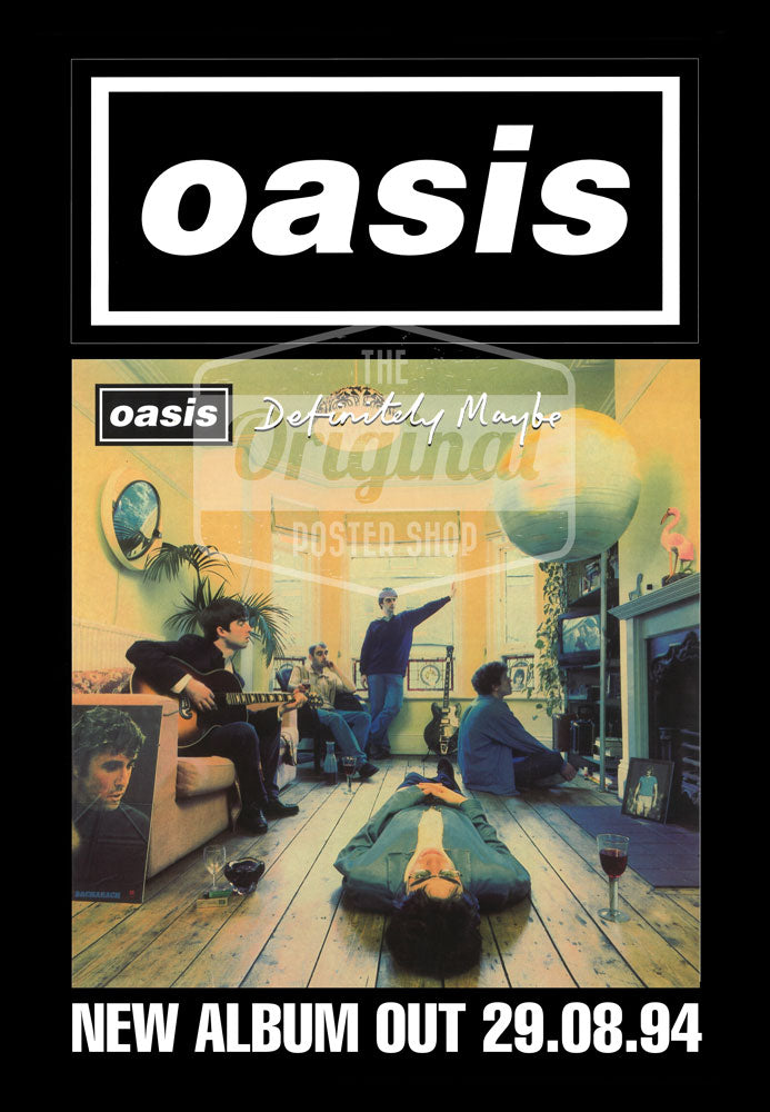 Oasis poster - Definitely Maybe (1st Gen Reprint)