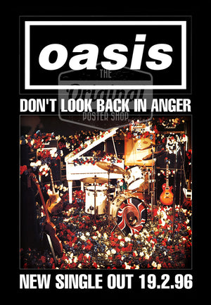 Oasis poster - Don't look back in anger (1st Gen Reprint)