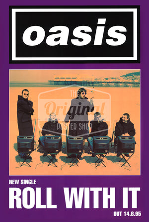 Oasis poster - Roll With It (1st Gen Reprint)