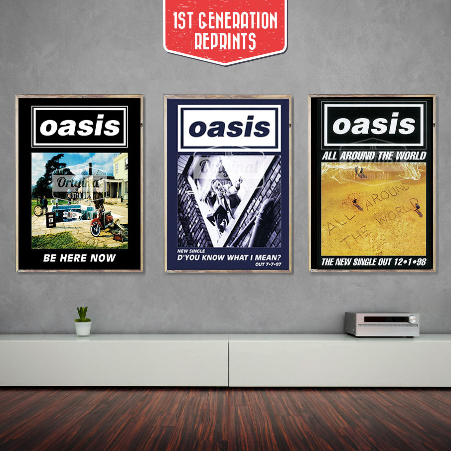Oasis posters - Be Here Now Collectors Set - First Generation Reprints