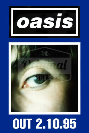 Oasis poster - (What's the Story) Morning Glory? Liam (Blue) Rare Original
