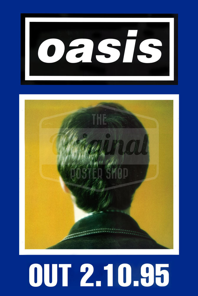 Oasis poster - (What's the Story) Morning Glory? Noel (Blue) Rare Original