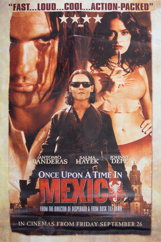 Once Upon a Time in Mexico poster - Johnny Depp - Large Adshel format