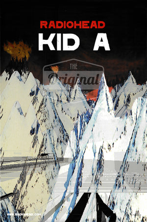 Radiohead poster - Kid A Album - 1st generation reprint